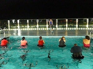 Aqua cycling is the new exercise craze aboard the MSC Divina.