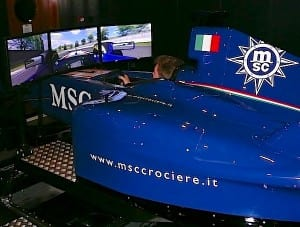 The Formula One Simulator lets drivers feel of thrill of racing.