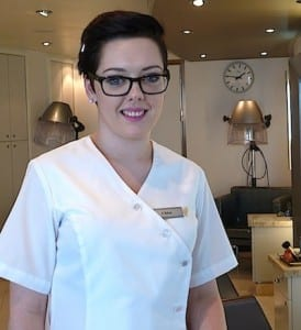 Spa attendant Chloe offers a tour of the lovely facilities.