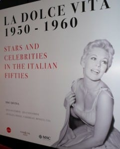 Kim Novak's photo is a main one in an exhibit aboard the MSC Divina.