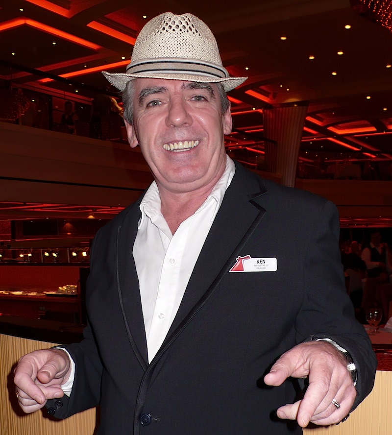 Carnival breeze features singing maitre d 39 allthingscruise for What is a maitre d