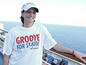 Melissa Mixon takes part in a fundraiser aboard the Carnival Breeze for St. Jude Children's Research Hospital.