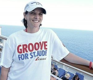 Melissa Mixan participates in a St. Jude fundraiser about Carnival Cruise Lines.