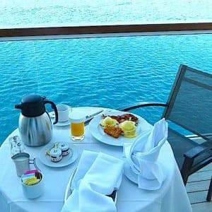 Breakfast on my balcony.