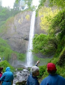 Located about 30 minutes from Portland, Multnomah Falls is a popular hiking spot.