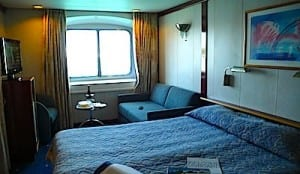 My comfy cabin aboard the Louis Cristal
