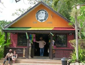 The Marley compound in Jamaica has several gift shops.
