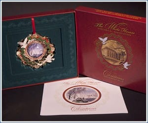 The White House Christmas Ornaments have been collectibles since 1981.