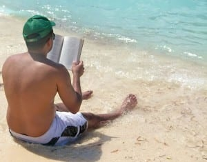 A cool beach and a good book make for a pleasant visit to Grand Turk.