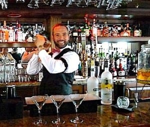 Bartender James LeMay creates drink specials every night. Alcoholic and non-alcoholic drinks are complimentary on the S.S. Legacy.