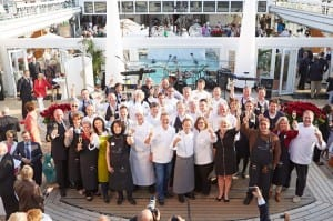The participants of EUROPA's Best 2013 in Antwerp (Photo courtesy of Hapag-Lloyd Cruises)