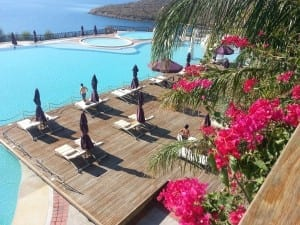 Poolside at the Kempinski Barbaros Bay, Bodrum, Turkey