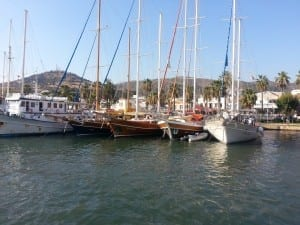 Boats in the harbour at Bodrum