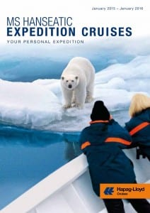 Hapag-Lloyd Cruises has introduced its 2015-2016 Hanseatic Expeditions Cruises brochure.  Photo courtesy of Hapag-Lloyd
