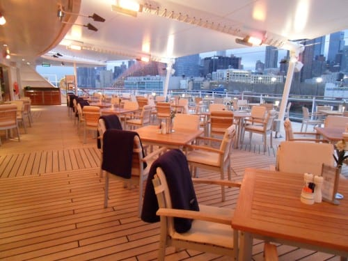 The Yacht Club, the casual buffet restaurant, has indoor and alfresco seating