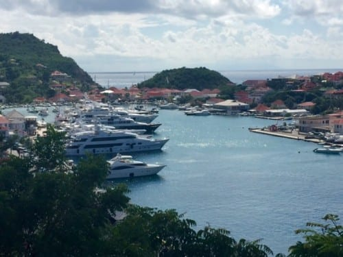A view of the harbor in Gustavia, St. Barts