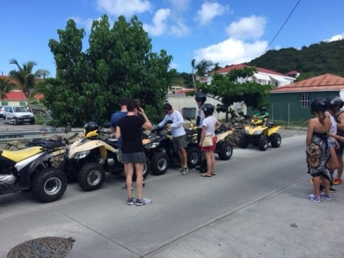 Our ATV group prepares to head out 2