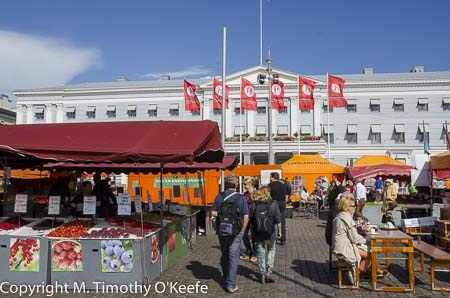 The popular summer market in Helsinki
