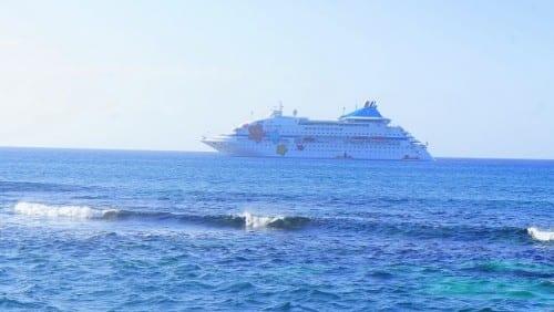 The Louis Cristal at anchor off Punta Francis