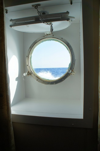 porthole window in lowest deck cabins