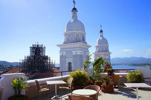 View from the Grand Hotel in Santiago de Cuba.