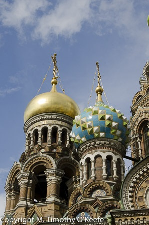 Church on Spilled Blood onion domes