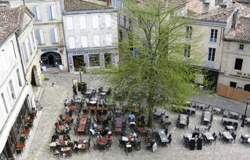 Saint-Emilion square in Bordeaux, France