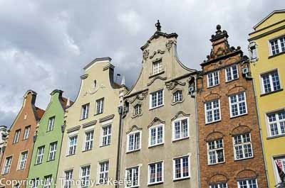 A restored section of Gdansk that reminds me of Aruba