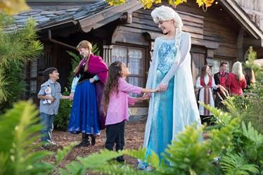 "Characters from the Disney animated hit ""Frozen"" join rich family experience ashore in the land that inspired their story (Photo courtesy of Disney Cruise Line)"