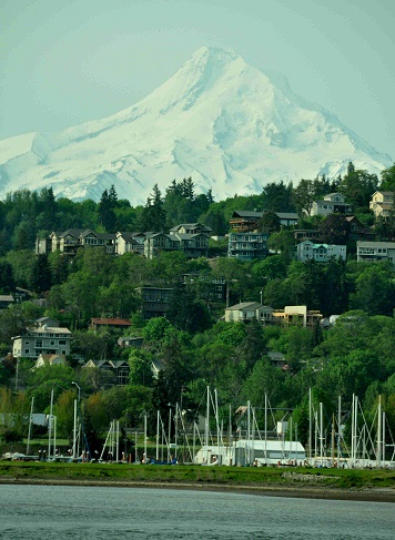 Mount Hood, as seen from the open top deck of the American Empress, Tuesday, April 21.