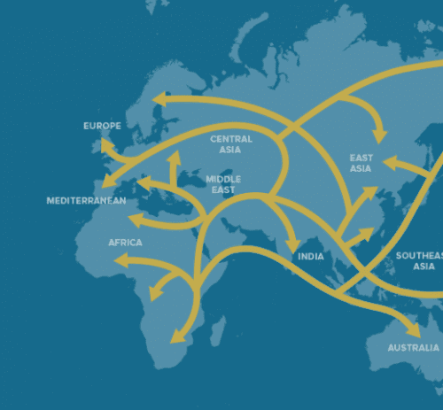 Human pathways in National Geographic's Genographic Project