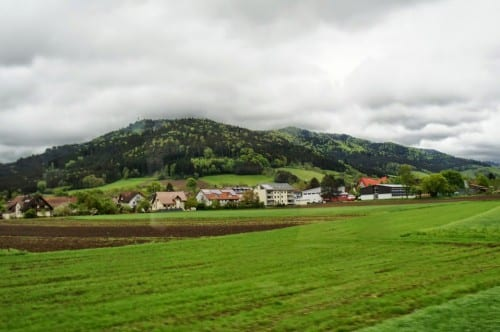 The countryside in the Black Forest area of Germany is green and lush.