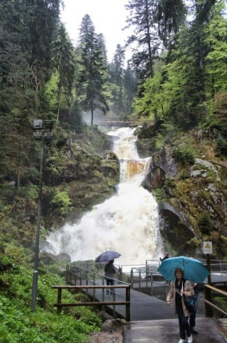 The highest waterfall in Germany is in the small Black Forest village of Triberg. The falls were particularly impressive because of the recent heavy rains.