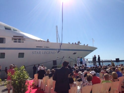 Windstar Cruises christens their new Star Legend (Photo courtesy of Windstar Cruises)