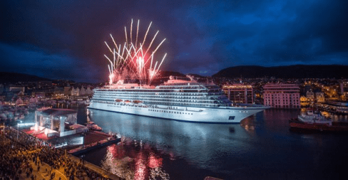 Viking Star christening in Bergen, Norway