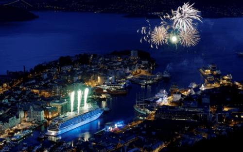 Celebration in Bergen, Norway