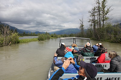 Wildlife watching on a Chilkat River  adventure, Haines, AK.