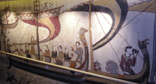 Scenes from the Bayeux Tapestry aboard Viking Star