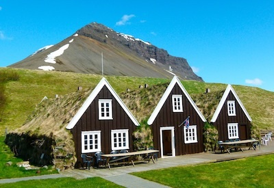 Turf houses are replicates of the home where Jón Sigurðsson was born.