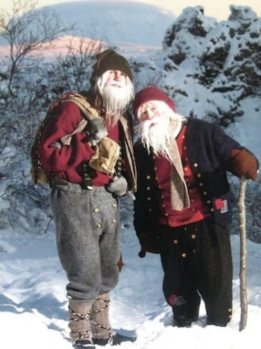 The Yule Lads come down from the mountains in December.