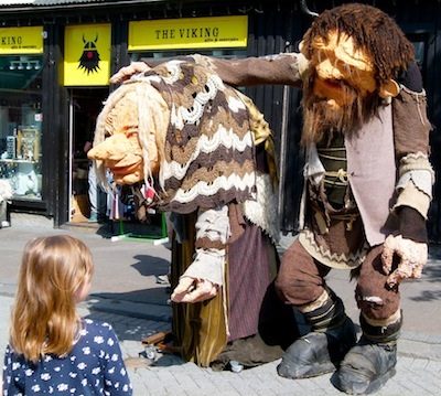 The mean troll couple named Grýla and Leppaludi are a scary sight in Reykjavík.