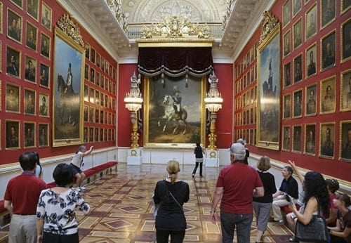 The Hermitage Museum gallery in Winter Palace dedicated to victory over Napoleon.