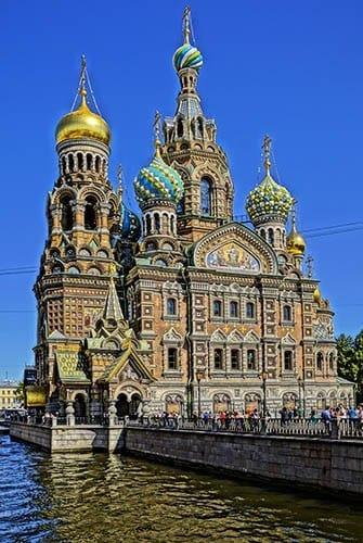 Russian Orthodox Church of the Savior on the Spilled Blood in St. Petersburg.