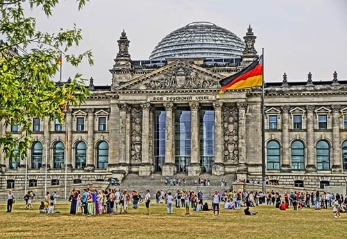 The Reichstag, seat of Germany's parliament.