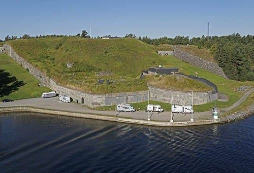 An old fortification that guarded the entrance to Stockholm harbor.