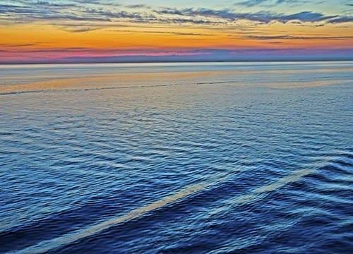 Baltic Sea at sunset.