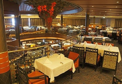 Eurodam upper Rembrandt Dining Room.