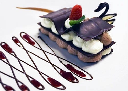 The Pinnacle Grill pastry chef's special ultimate chocolate dessert.