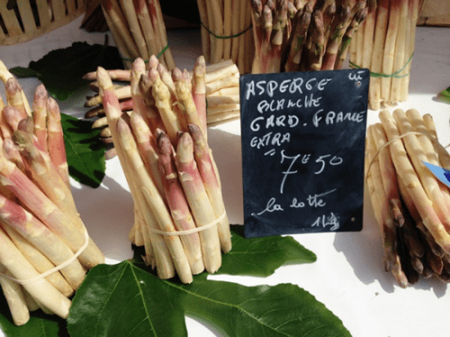 White asparagus at the Nice market in May