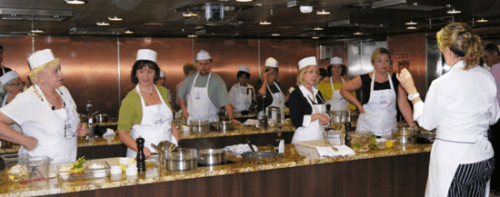 Cooking lessons on Oceania Cruises' Marina